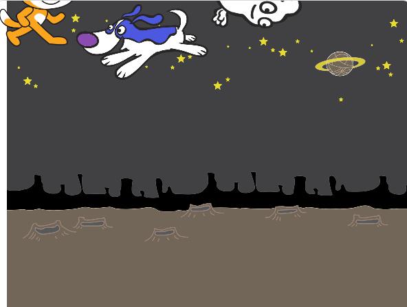 """Игра """"Удрать от собаки"""" - автор: Кругленков Тимофей (8лет)"""